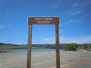 Wolf Creek Reservoir Sign