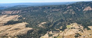 Arial View of Igo Trail Head and Grande Rhonde Valley