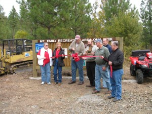 Mt. Emily Recreation Area, Grand Opening, With Commissioner Mark Davidson and Steve McClure
