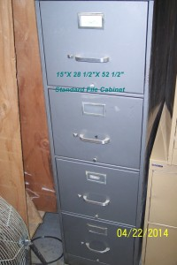 File Cabinet Gray Color
