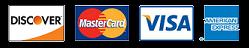 Logo for Discover, Mastercard, Visa, & Amercan Express